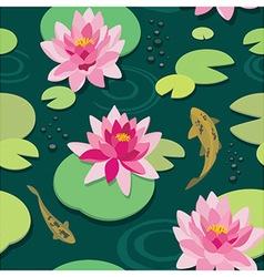 Quiet pond seamless pattern vector