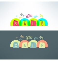 shopping sale background with bags vector image vector image