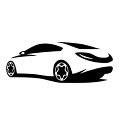 Silhouette car tuning vector image