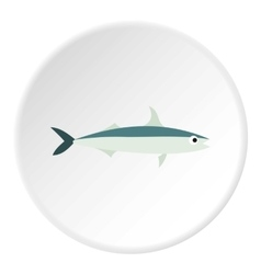 Smelt fish icon flat style vector