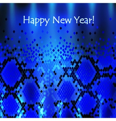 Snake new year background vector