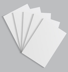 Stack of white sheets of paper with shadows vector