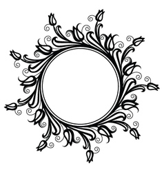 Tulip frame vector image vector image