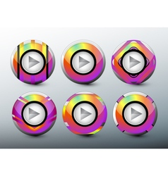Web colorful buttons vector