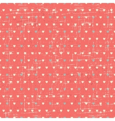 Seamless retro pattern of valentines hearts vector
