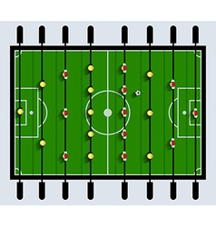 Top View Table Football Game vector image