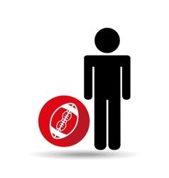 man silhouette football design vector image