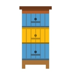 Apiary honey bee house vector image