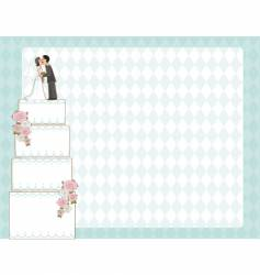 wedding cake invite vector image