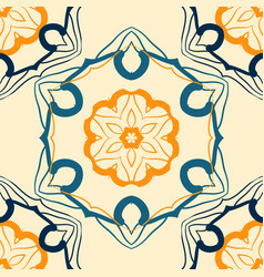 Seamless indian mandala pattern for printing on vector