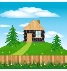 Lodge on hill vector