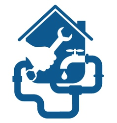 Plumbing repair business vector