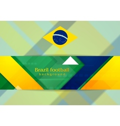 Tech geometry background in brazilian colors vector