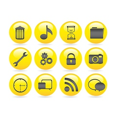 bubbles icons gel containing garbage settings gear vector image