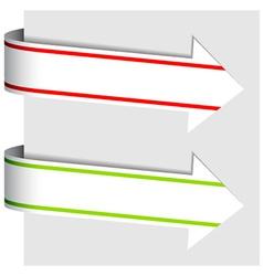 Arrow ribbon signs vector