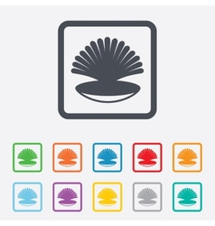 Sea shell sign icon conch symbol travel icon vector