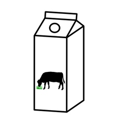 Milk carton vector