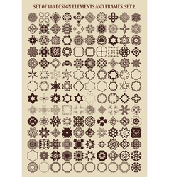 Set of 140 design elements and frames vector