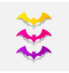 Realistic design element bat vector