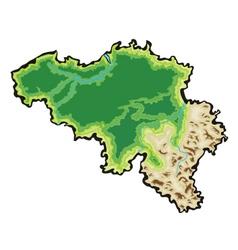 Belgium map vector