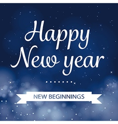 Happy new year calligraphy card design vector