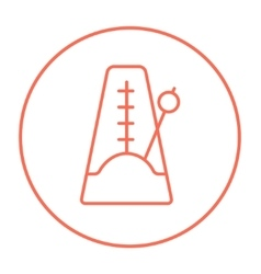 Metronome line icon vector