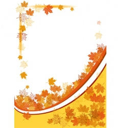 Autumn background maple leafs vector