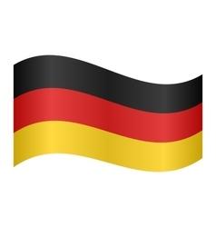 Flag of germany waving vector