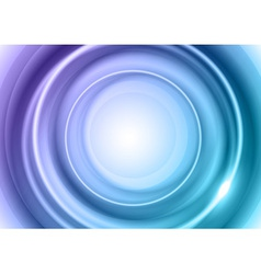 background blue light center big vector image vector image