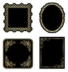 black and gold vintage frames - set vector image