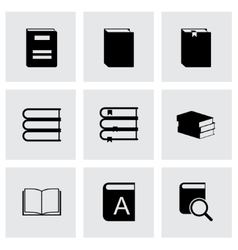 Black book icons set vector