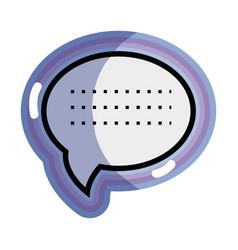 Blue chat bubble communication message vector