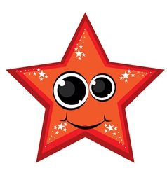 cartoon red star vector image vector image