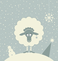 Christmas sheep vector image vector image