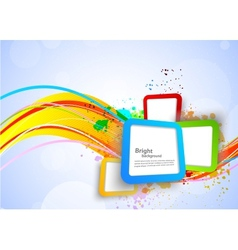 Colorful background with squares vector image