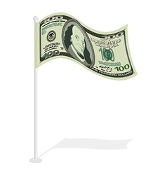 Dollar flag Financial paced checkbox Sign for vector image