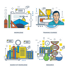 education search and acquisition of knowledge vector image
