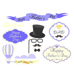 Elements for greeting cards and posters happy vector