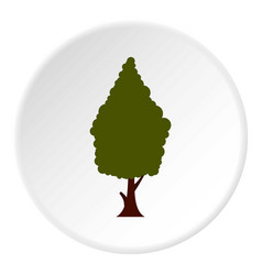 Green tree icon circle vector