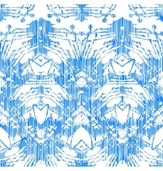 Hand painted pattern with damask and ikat motifs vector