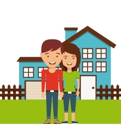 Happy family members concept vector