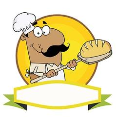 Hispanic Baker Holding Bread vector image