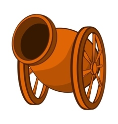 Medieval cannon icon cartoon style vector image