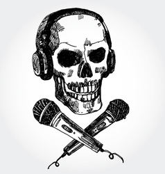 music scull vector image