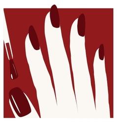 Nail polishing at the salon - vector image