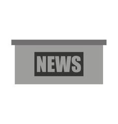 News podium isolated icon design vector