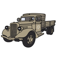 Old miliary truck vector image