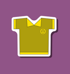 paper sticker on stylish background golf shirt vector image vector image