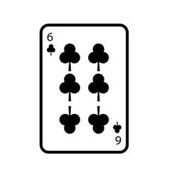 Poker playing club card casino gambling icon vector