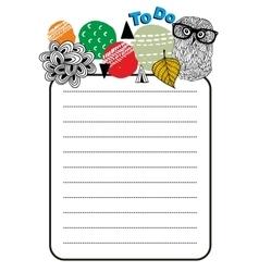 Printable design of to do list vector